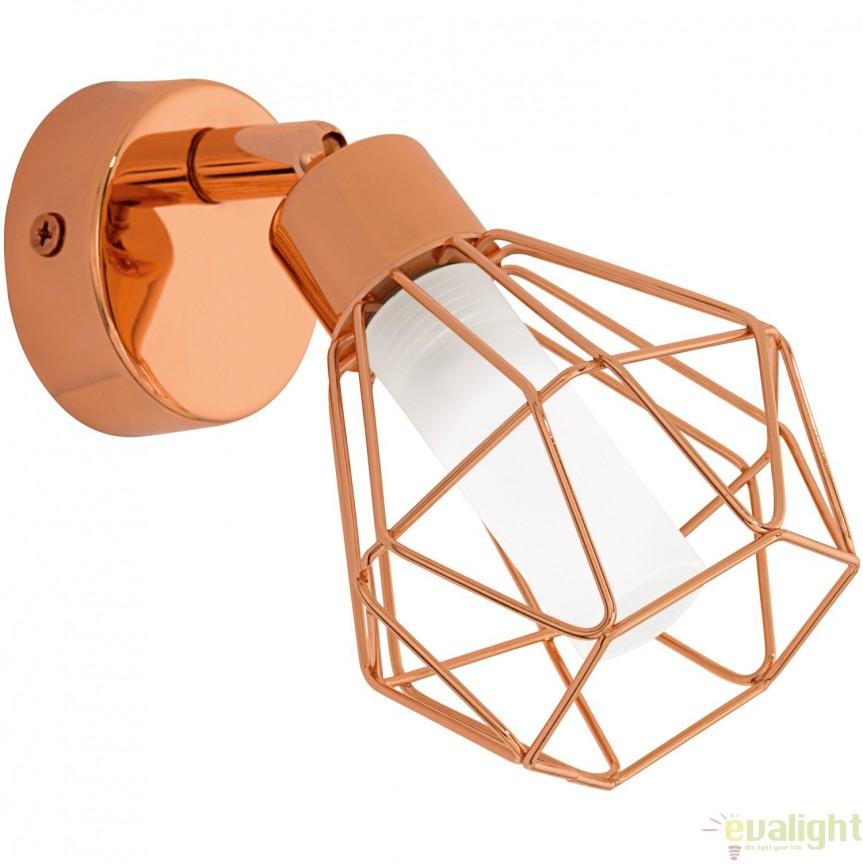 Aplica de perete, Spot G9-LED diametru 6cm, finisaj cupru, ZAPATA 95545 EL, Magazin, Corpuri de iluminat, lustre, aplice, veioze, lampadare, plafoniere. Mobilier si decoratiuni, oglinzi, scaune, fotolii. Oferte speciale iluminat interior si exterior. Livram in toata tara.  a
