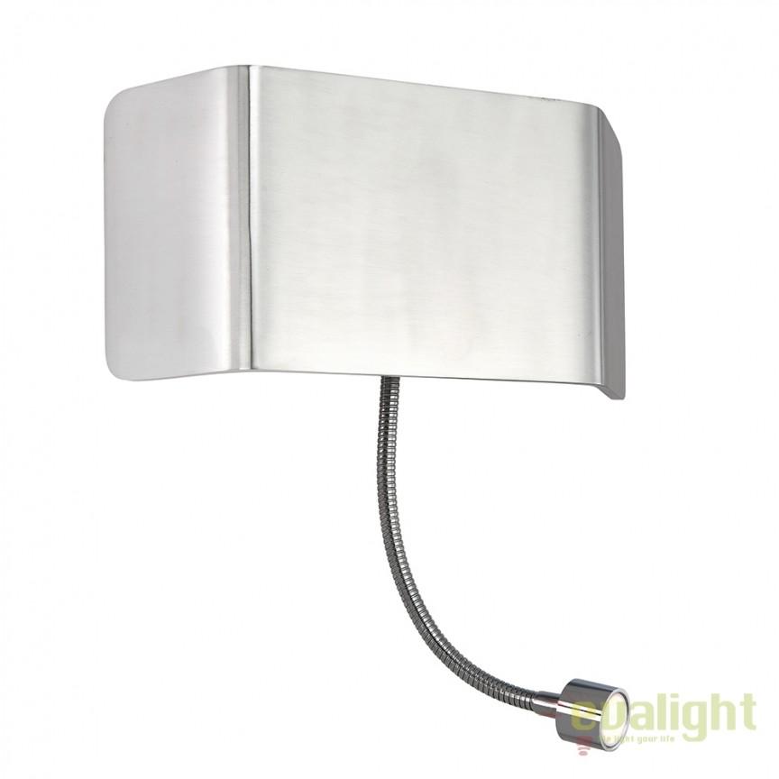 Aplica LED de perete design modern cu reader LED Verona flexi 67087 EN, Aplice de perete LED, Corpuri de iluminat, lustre, aplice, veioze, lampadare, plafoniere. Mobilier si decoratiuni, oglinzi, scaune, fotolii. Oferte speciale iluminat interior si exterior. Livram in toata tara.  a