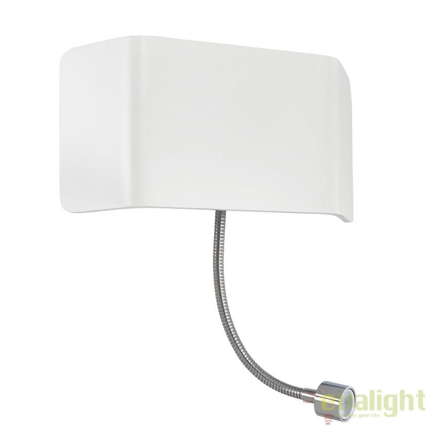 Aplica LED de perete design modern cu reader LED Verona flexi 67086 EN, Aplice de perete LED, Corpuri de iluminat, lustre, aplice, veioze, lampadare, plafoniere. Mobilier si decoratiuni, oglinzi, scaune, fotolii. Oferte speciale iluminat interior si exterior. Livram in toata tara.  a