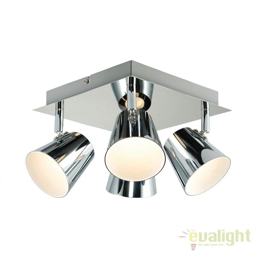 Plafoniera LED cu 4 spoturi directionabile Torsion G3223515 EN, Spoturi - iluminat - cu 4 spoturi, Corpuri de iluminat, lustre, aplice, veioze, lampadare, plafoniere. Mobilier si decoratiuni, oglinzi, scaune, fotolii. Oferte speciale iluminat interior si exterior. Livram in toata tara.  a