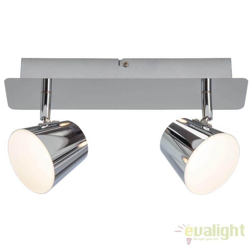 Plafoniera LED cu 2 spoturi directionabile Torsion G3222915 EN, Spoturi - iluminat - cu 2 spoturi, Corpuri de iluminat, lustre, aplice, veioze, lampadare, plafoniere. Mobilier si decoratiuni, oglinzi, scaune, fotolii. Oferte speciale iluminat interior si exterior. Livram in toata tara.  a