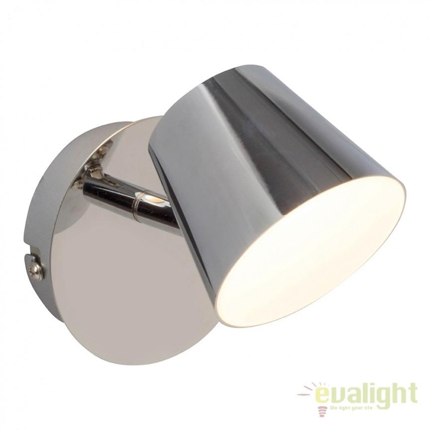Aplica LED cu 1 spot directionabil Torsion G3221015 EN, Spoturi - iluminat - cu 1 spot, Corpuri de iluminat, lustre, aplice, veioze, lampadare, plafoniere. Mobilier si decoratiuni, oglinzi, scaune, fotolii. Oferte speciale iluminat interior si exterior. Livram in toata tara.  a