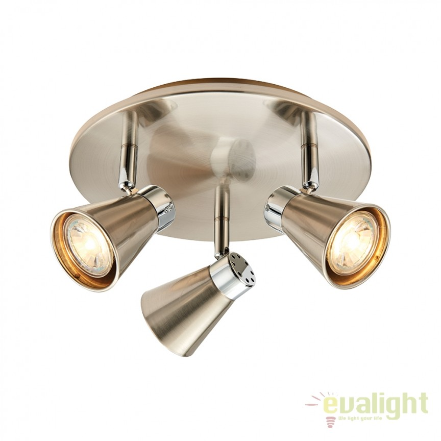 Plafoniera LED cu 3 spoturi directionabile Hyde 59941 EN, Spoturi - iluminat - cu 3 spoturi, Corpuri de iluminat, lustre, aplice, veioze, lampadare, plafoniere. Mobilier si decoratiuni, oglinzi, scaune, fotolii. Oferte speciale iluminat interior si exterior. Livram in toata tara.  a