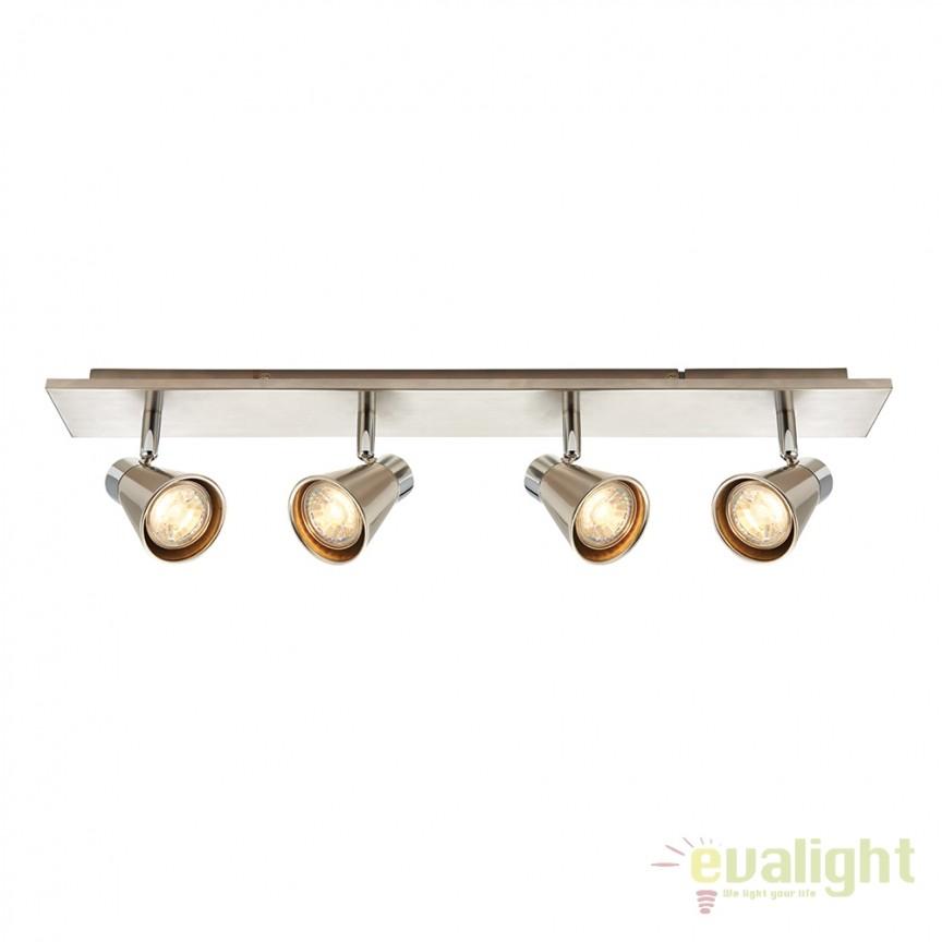 Plafoniera LED cu 4 spoturi directionabile Hyde 59942 EN, Plafoniere LED, Spoturi LED, Corpuri de iluminat, lustre, aplice, veioze, lampadare, plafoniere. Mobilier si decoratiuni, oglinzi, scaune, fotolii. Oferte speciale iluminat interior si exterior. Livram in toata tara.  a