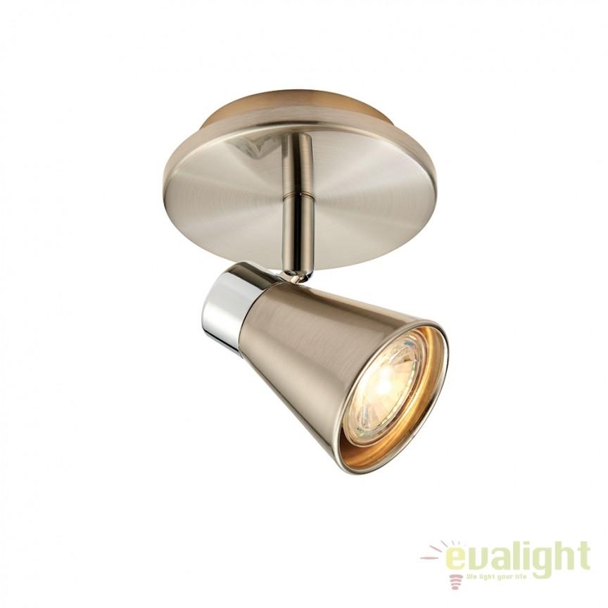 Aplica LED cu 1 spot directionabil Hyde 59940 EN, Spoturi - iluminat - cu 1 spot, Corpuri de iluminat, lustre, aplice, veioze, lampadare, plafoniere. Mobilier si decoratiuni, oglinzi, scaune, fotolii. Oferte speciale iluminat interior si exterior. Livram in toata tara.  a