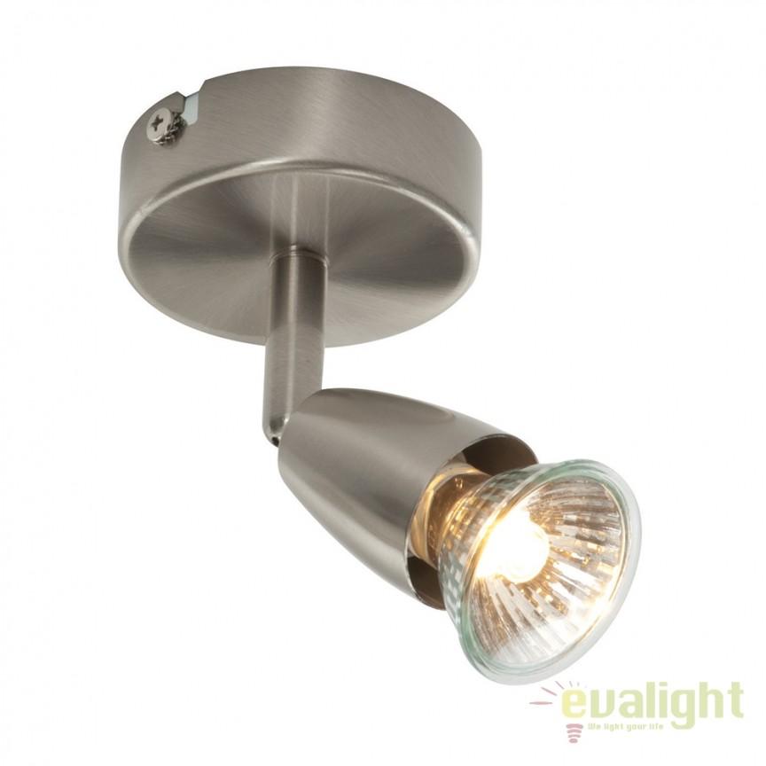 Aplica cu 1 spot directionabil Amalfi nickel 59940 EN, Spoturi - iluminat - cu 1 spot, Corpuri de iluminat, lustre, aplice, veioze, lampadare, plafoniere. Mobilier si decoratiuni, oglinzi, scaune, fotolii. Oferte speciale iluminat interior si exterior. Livram in toata tara.  a