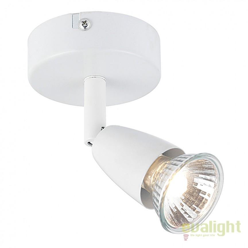 Aplica cu 1 spot directionabil Amalfi alba 43281 EN, Spoturi - iluminat - cu 1 spot, Corpuri de iluminat, lustre, aplice, veioze, lampadare, plafoniere. Mobilier si decoratiuni, oglinzi, scaune, fotolii. Oferte speciale iluminat interior si exterior. Livram in toata tara.  a