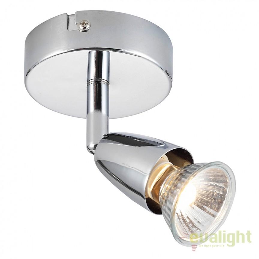 Aplica cu 1 spot directionabil Amalfi crom 43277 EN, Spoturi - iluminat - cu 1 spot, Corpuri de iluminat, lustre, aplice, veioze, lampadare, plafoniere. Mobilier si decoratiuni, oglinzi, scaune, fotolii. Oferte speciale iluminat interior si exterior. Livram in toata tara.  a