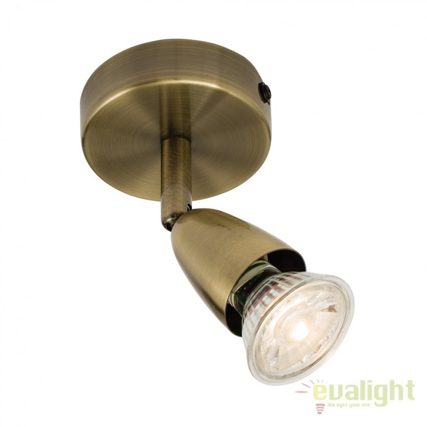 Aplica cu 1 spot directionabil Amalfi alama 60998 EN, Spoturi - iluminat - cu 1 spot, Corpuri de iluminat, lustre, aplice, veioze, lampadare, plafoniere. Mobilier si decoratiuni, oglinzi, scaune, fotolii. Oferte speciale iluminat interior si exterior. Livram in toata tara.  a