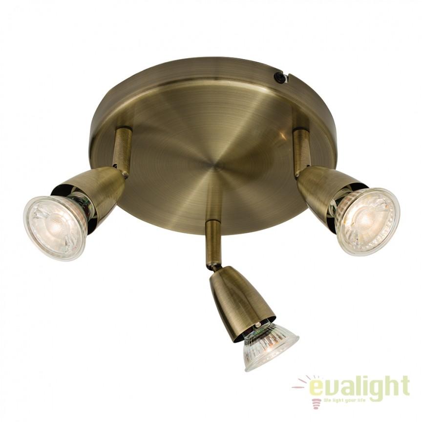 Plafoniera cu 3 spoturi directionabile Amalfi alama 60997 EN, Spoturi - iluminat - cu 3 spoturi, Corpuri de iluminat, lustre, aplice, veioze, lampadare, plafoniere. Mobilier si decoratiuni, oglinzi, scaune, fotolii. Oferte speciale iluminat interior si exterior. Livram in toata tara.  a