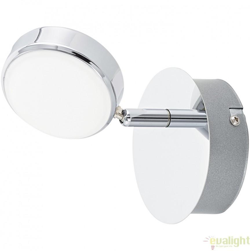 Aplica de perete, Spot cu iluminat LED, finisaj crom, SALTO 95628 EL, Spoturi - iluminat - cu 1 spot, Corpuri de iluminat, lustre, aplice, veioze, lampadare, plafoniere. Mobilier si decoratiuni, oglinzi, scaune, fotolii. Oferte speciale iluminat interior si exterior. Livram in toata tara.  a