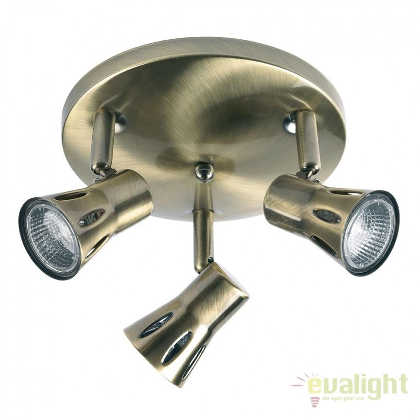 Plafoniera cu 3 spoturi directionabile Krius alama 813-AN EN, Spoturi - iluminat - cu 3 spoturi, Corpuri de iluminat, lustre, aplice, veioze, lampadare, plafoniere. Mobilier si decoratiuni, oglinzi, scaune, fotolii. Oferte speciale iluminat interior si exterior. Livram in toata tara.  a