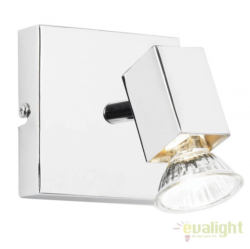 Aplica cu 1 spot directionabil Grove EL-10049 EN, Spoturi - iluminat - cu 1 spot, Corpuri de iluminat, lustre, aplice, veioze, lampadare, plafoniere. Mobilier si decoratiuni, oglinzi, scaune, fotolii. Oferte speciale iluminat interior si exterior. Livram in toata tara.  a
