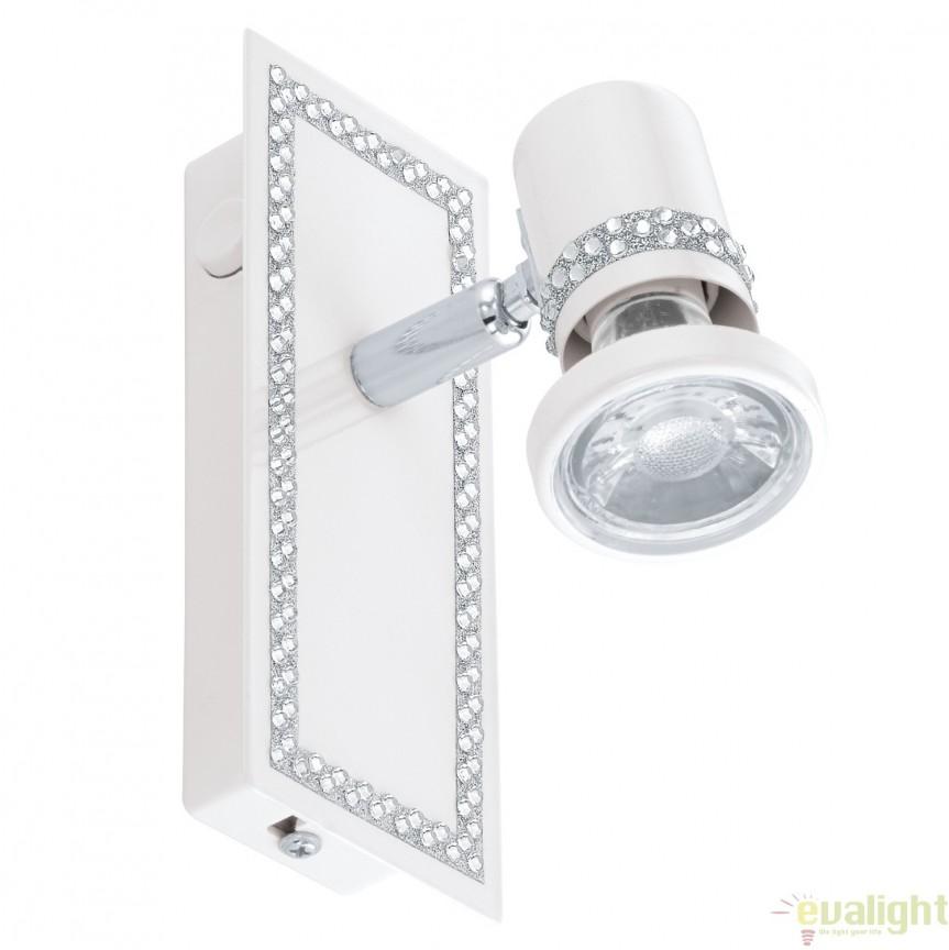 Aplica de perete, Spot cu iluminat GU10-LED, finisaj alb, BONARES 94282 EL, Spoturi - iluminat - cu 1 spot, Corpuri de iluminat, lustre, aplice, veioze, lampadare, plafoniere. Mobilier si decoratiuni, oglinzi, scaune, fotolii. Oferte speciale iluminat interior si exterior. Livram in toata tara.  a