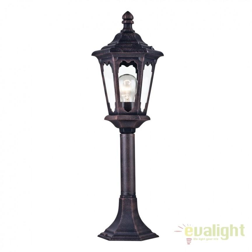 Stalp pentru iluminat exterior cu protectie IP44 Oxford negru H60 MYS101-60-31-B, Stalpi de iluminat exterior mici si medii , Corpuri de iluminat, lustre, aplice, veioze, lampadare, plafoniere. Mobilier si decoratiuni, oglinzi, scaune, fotolii. Oferte speciale iluminat interior si exterior. Livram in toata tara.  a