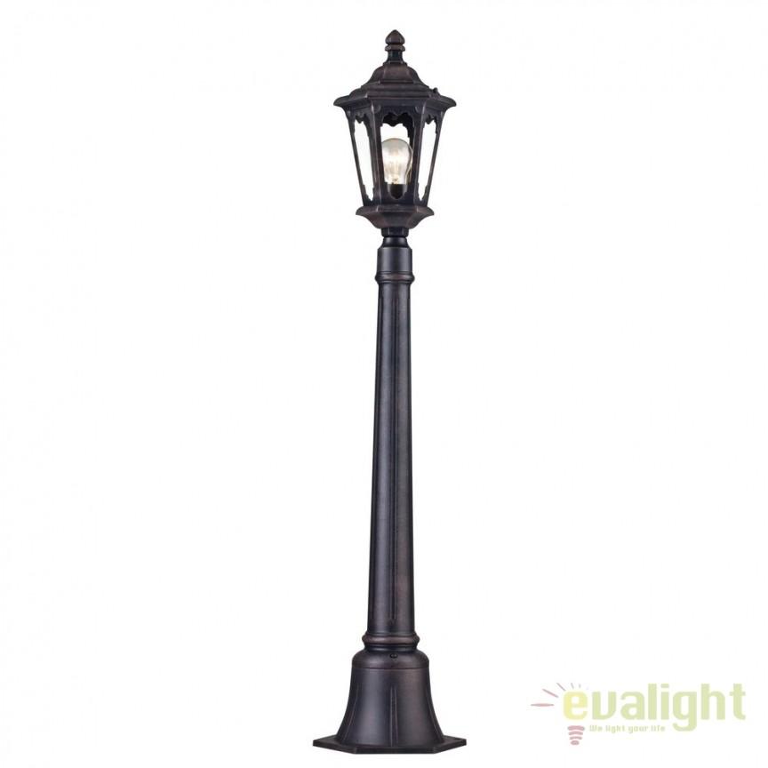 Stalp pentru iluminat exterior cu protectie IP44 Oxford negru H108 MYS101-108-51-B, Stalpi de iluminat exterior mici si medii , Corpuri de iluminat, lustre, aplice, veioze, lampadare, plafoniere. Mobilier si decoratiuni, oglinzi, scaune, fotolii. Oferte speciale iluminat interior si exterior. Livram in toata tara.  a