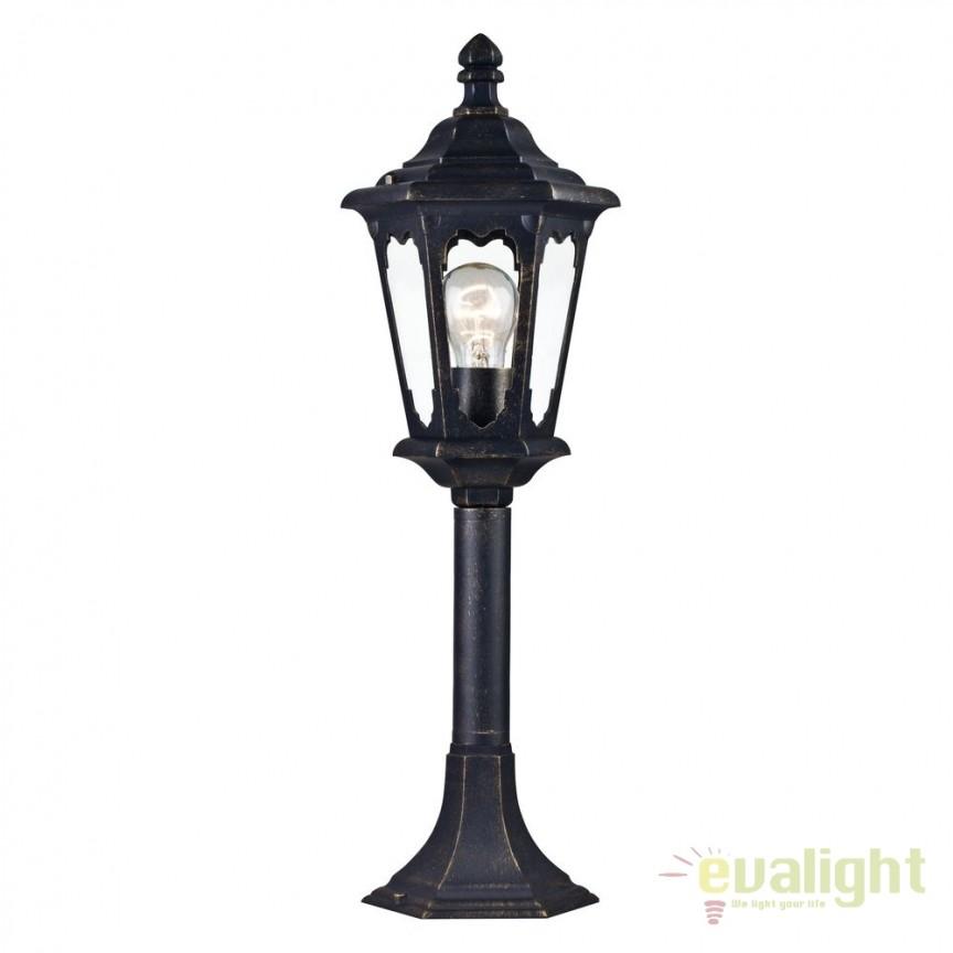 Stalp pentru iluminat exterior cu protectie IP44 Oxford bronz H60 MYS101-60-31-B, Stalpi de iluminat exterior mici si medii , Corpuri de iluminat, lustre, aplice, veioze, lampadare, plafoniere. Mobilier si decoratiuni, oglinzi, scaune, fotolii. Oferte speciale iluminat interior si exterior. Livram in toata tara.  a