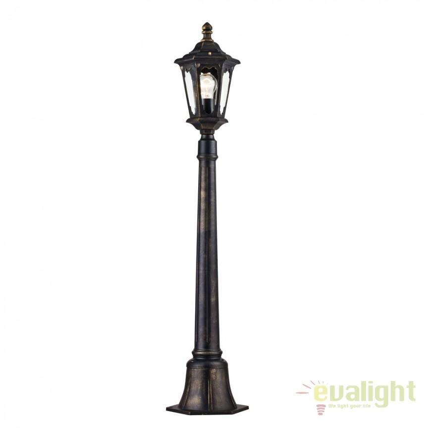 Stalp pentru iluminat exterior cu protectie IP44 Oxford bronz H108 MYS101-108-51-R, Stalpi de iluminat exterior mici si medii , Corpuri de iluminat, lustre, aplice, veioze, lampadare, plafoniere. Mobilier si decoratiuni, oglinzi, scaune, fotolii. Oferte speciale iluminat interior si exterior. Livram in toata tara.  a