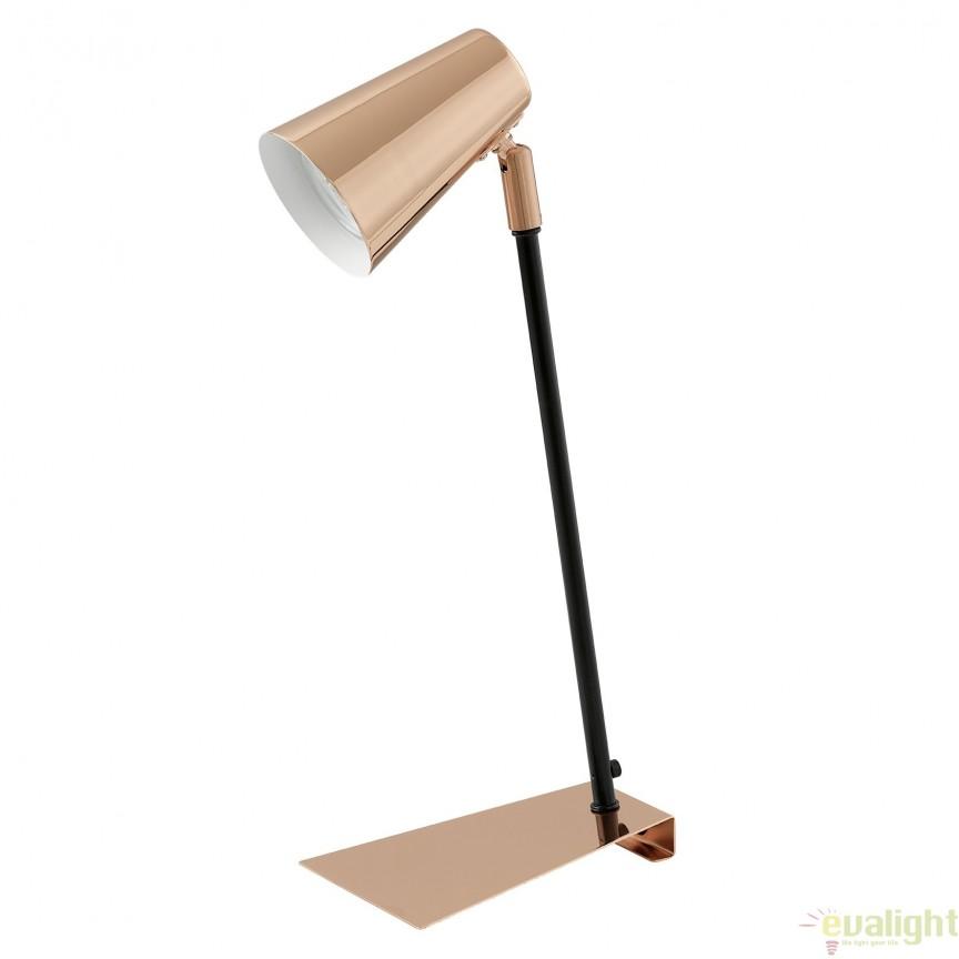 Veioza, Lampa de masa moderna GU10-LED finisaj cupru, TRAVALE 94395 EL, Veioze LED, Lampadare LED, Corpuri de iluminat, lustre, aplice, veioze, lampadare, plafoniere. Mobilier si decoratiuni, oglinzi, scaune, fotolii. Oferte speciale iluminat interior si exterior. Livram in toata tara.  a