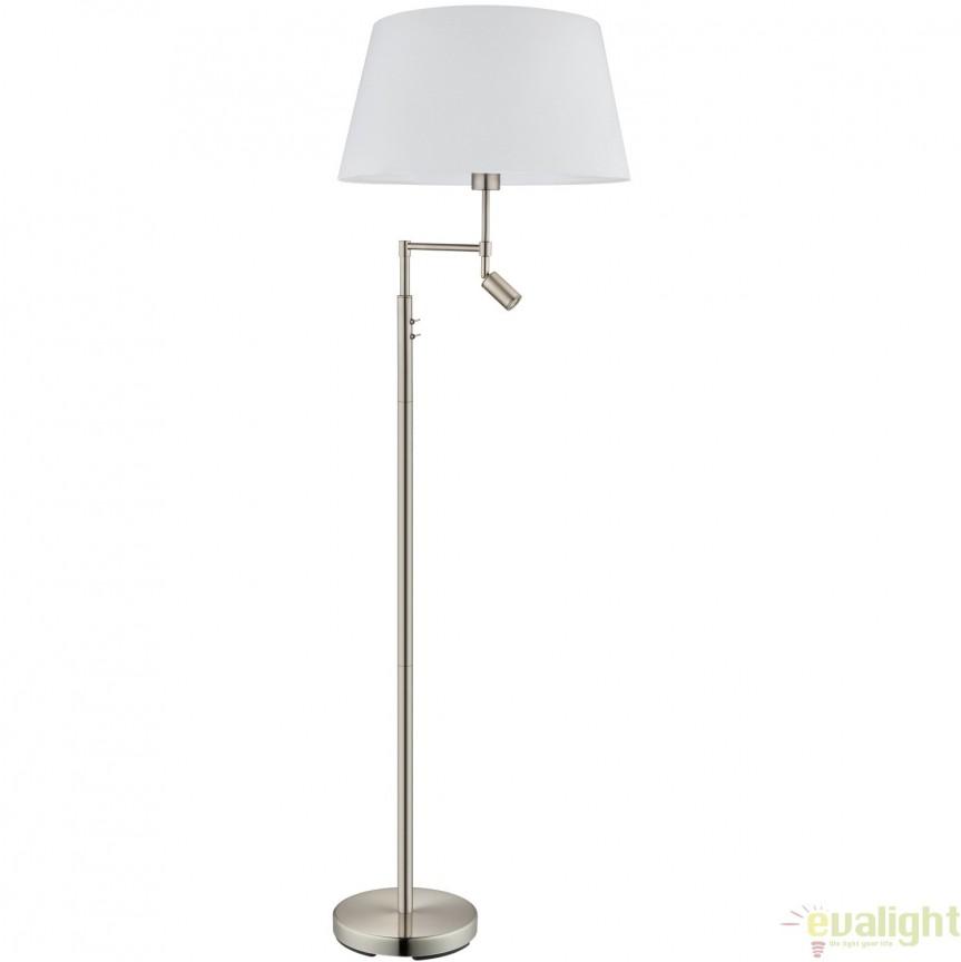 Lampadar, Lampa de podea cu reader LED, diametru 50cm, SANTANDER 94946 EL, Veioze LED, Lampadare LED, Corpuri de iluminat, lustre, aplice, veioze, lampadare, plafoniere. Mobilier si decoratiuni, oglinzi, scaune, fotolii. Oferte speciale iluminat interior si exterior. Livram in toata tara.  a