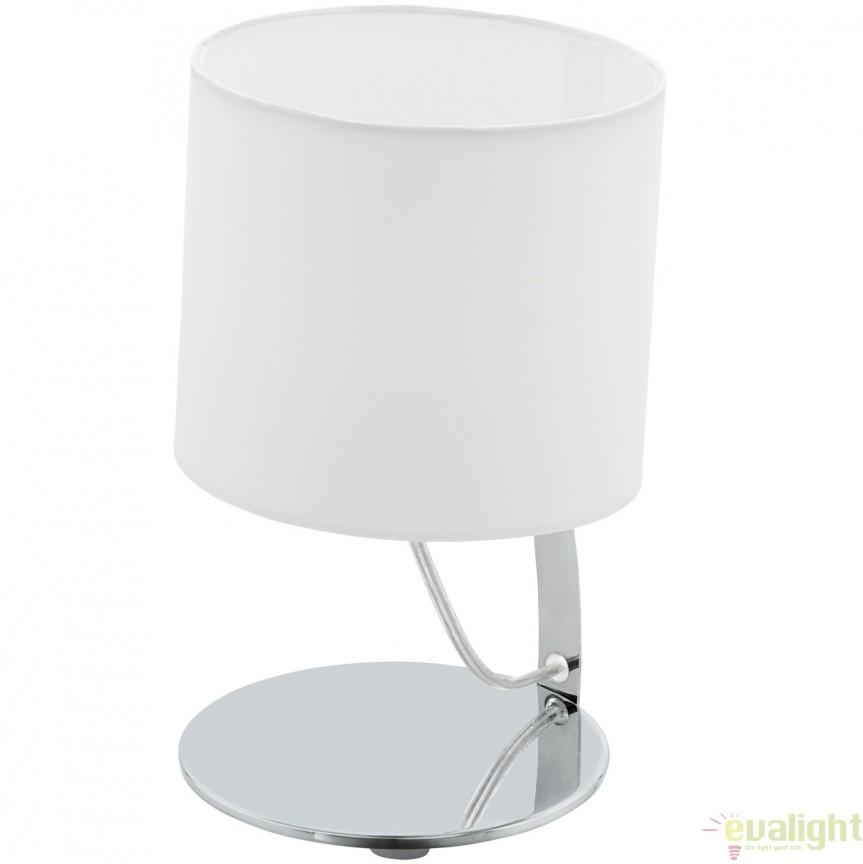 Veioza, Lampa de masa moderna LED, finisaj alb, diametru 15cm, NAMBIA 1 95764 EL, Veioze LED, Lampadare LED, Corpuri de iluminat, lustre, aplice, veioze, lampadare, plafoniere. Mobilier si decoratiuni, oglinzi, scaune, fotolii. Oferte speciale iluminat interior si exterior. Livram in toata tara.  a