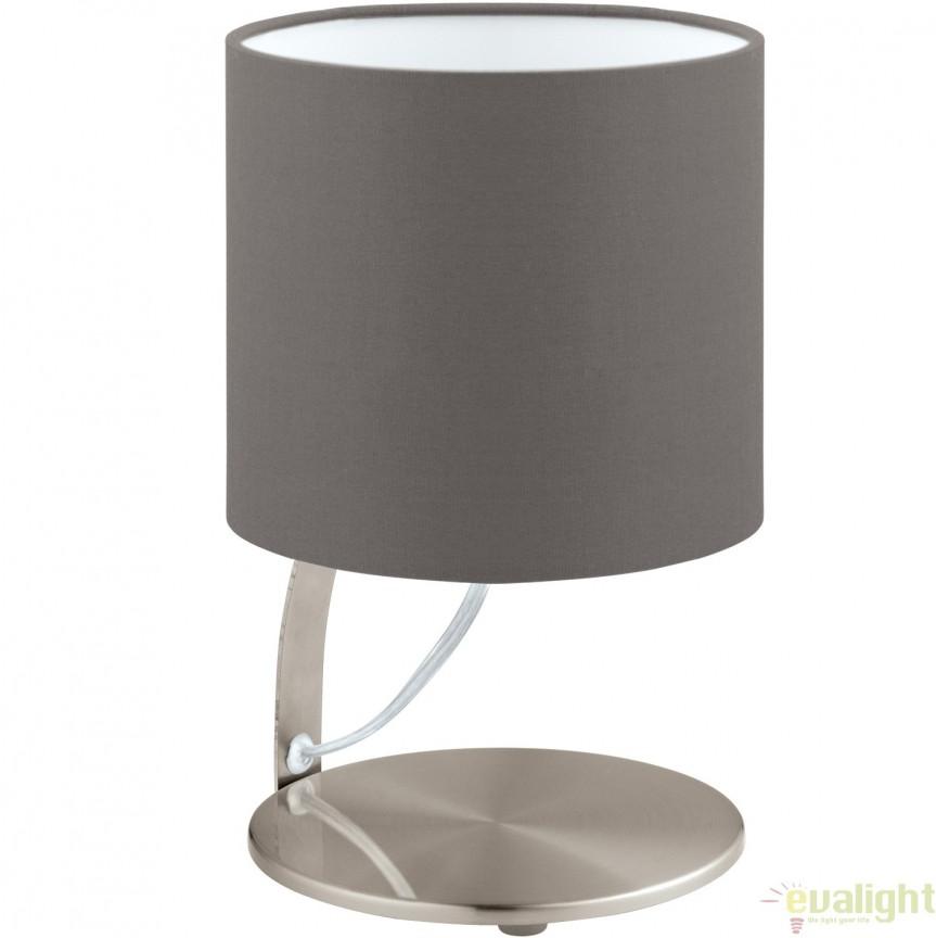 Veioza, Lampa de masa moderna LED, finisaj cappuccino, diametru 15cm, NAMBIA 1 95765 EL, Veioze LED, Lampadare LED, Corpuri de iluminat, lustre, aplice, veioze, lampadare, plafoniere. Mobilier si decoratiuni, oglinzi, scaune, fotolii. Oferte speciale iluminat interior si exterior. Livram in toata tara.  a