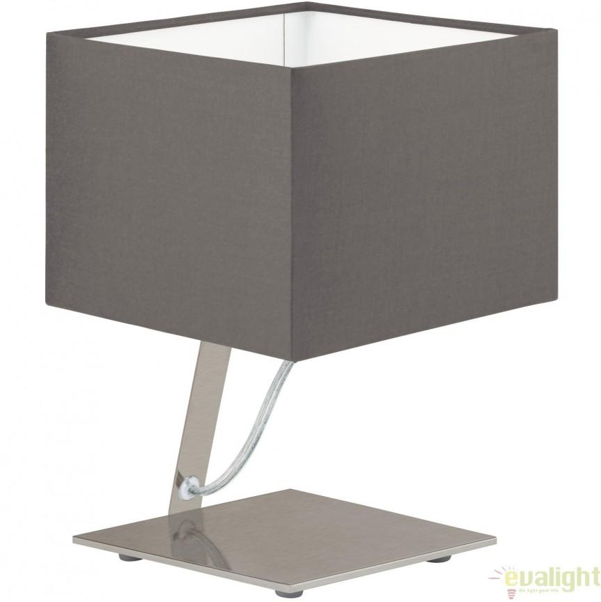 Veioza, Lampa de masa moderna LED, finisaj cappuccino, NAMBIA 1 95767 EL, Veioze LED, Lampadare LED, Corpuri de iluminat, lustre, aplice, veioze, lampadare, plafoniere. Mobilier si decoratiuni, oglinzi, scaune, fotolii. Oferte speciale iluminat interior si exterior. Livram in toata tara.  a