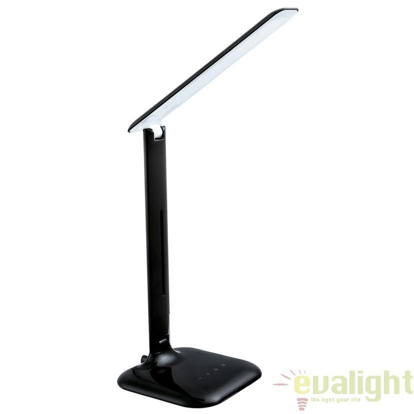 Veioza, lampa de masa cu touch dimmer LED, finisaj negru, CAUPO 93966 EL, Veioze LED, Lampadare LED, Corpuri de iluminat, lustre, aplice, veioze, lampadare, plafoniere. Mobilier si decoratiuni, oglinzi, scaune, fotolii. Oferte speciale iluminat interior si exterior. Livram in toata tara.  a