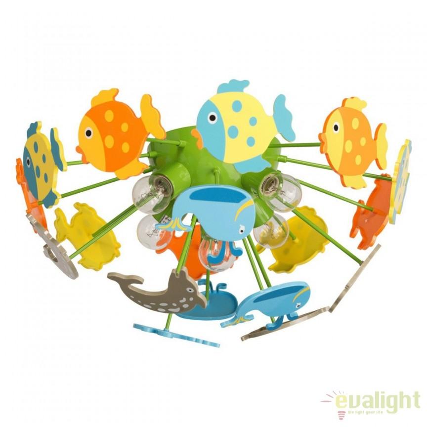 Plafoniera pentru copii Fish Kinder 365014605 MW, Lustre pentru camera Copii, Corpuri de iluminat, lustre, aplice, veioze, lampadare, plafoniere. Mobilier si decoratiuni, oglinzi, scaune, fotolii. Oferte speciale iluminat interior si exterior. Livram in toata tara.  a