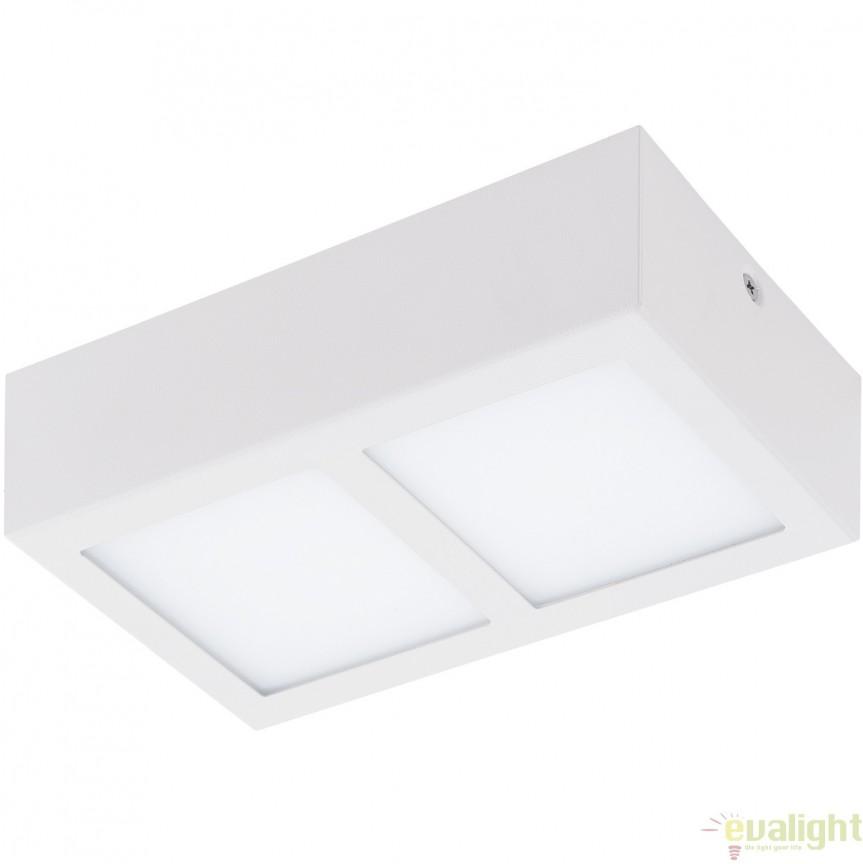 Plafoniera cu 2 spoturi LED, finsaj alb, 21,5x11,5cm, COLEGIO 95201 EL, Plafoniere LED, Spoturi LED, Corpuri de iluminat, lustre, aplice, veioze, lampadare, plafoniere. Mobilier si decoratiuni, oglinzi, scaune, fotolii. Oferte speciale iluminat interior si exterior. Livram in toata tara.  a