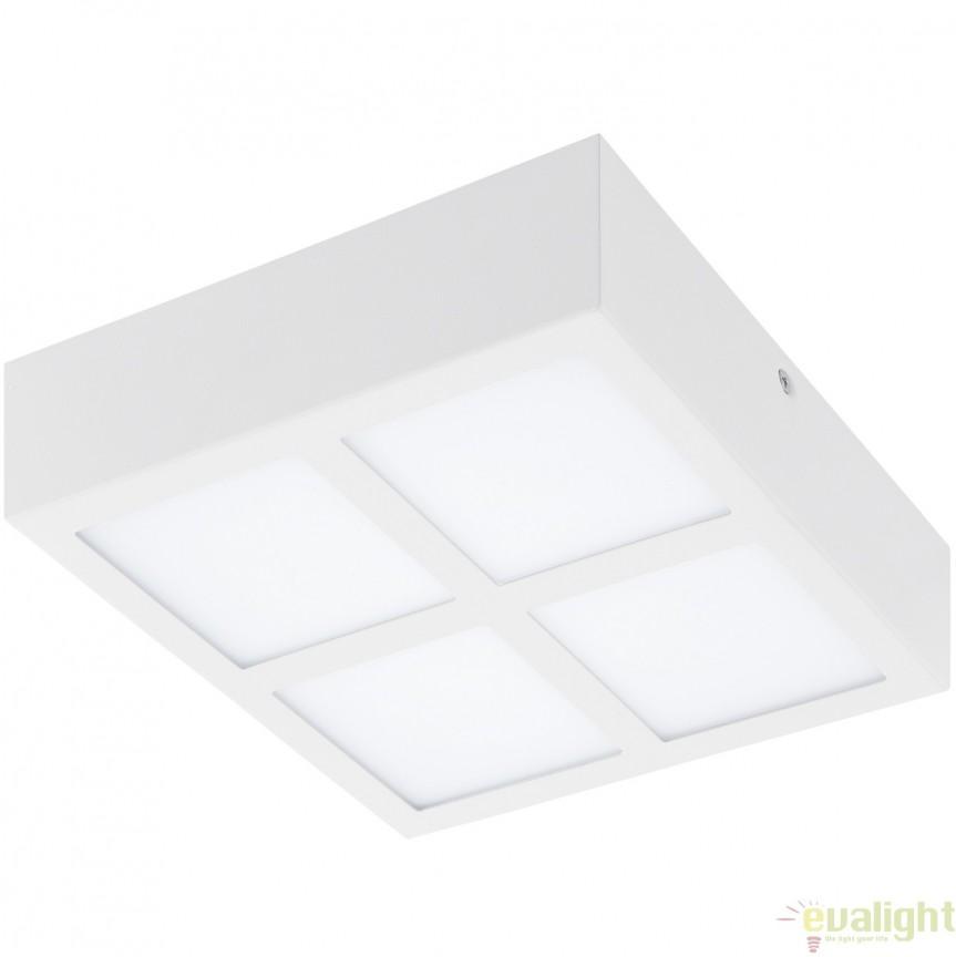 Plafoniera cu 4 spoturi LED, finsaj alb, 21,5x21,5cm, COLEGIO 95203 EL, Plafoniere LED, Spoturi LED, Corpuri de iluminat, lustre, aplice, veioze, lampadare, plafoniere. Mobilier si decoratiuni, oglinzi, scaune, fotolii. Oferte speciale iluminat interior si exterior. Livram in toata tara.  a