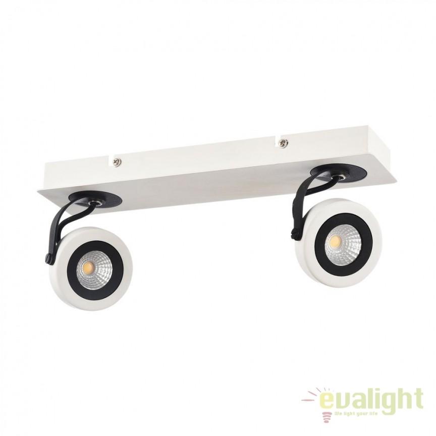Plafoniera cu 2 Spoturi LED Magnetar 1 MYECO161-02-W, Plafoniere LED, Spoturi LED, Corpuri de iluminat, lustre, aplice, veioze, lampadare, plafoniere. Mobilier si decoratiuni, oglinzi, scaune, fotolii. Oferte speciale iluminat interior si exterior. Livram in toata tara.  a