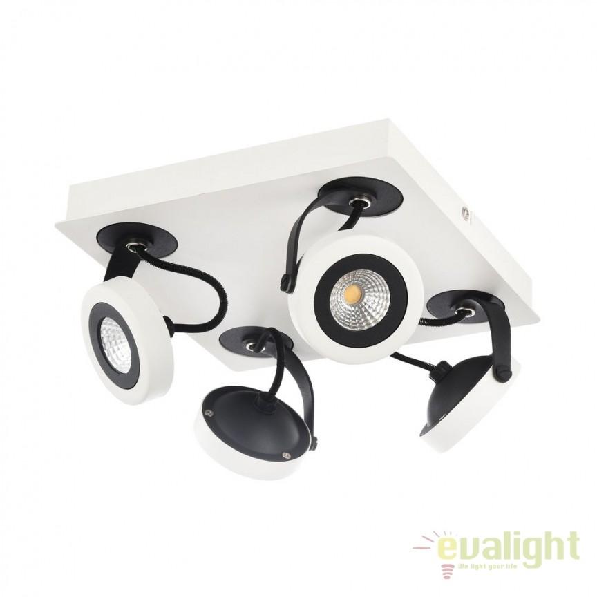 Plafoniera cu 4 Spoturi LED Magnetar 1 MYECO161-04-W, Plafoniere LED, Spoturi LED, Corpuri de iluminat, lustre, aplice, veioze, lampadare, plafoniere. Mobilier si decoratiuni, oglinzi, scaune, fotolii. Oferte speciale iluminat interior si exterior. Livram in toata tara.  a