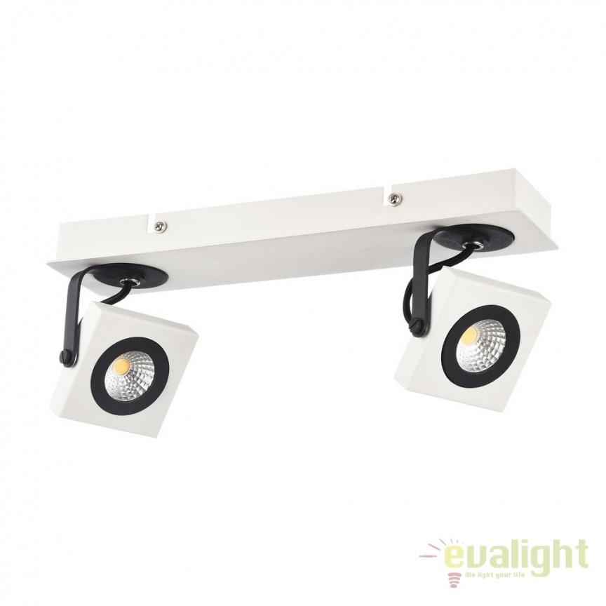 Plafoniera cu 2 Spoturi LED Magnetar 2 MYECO162-02-W, Plafoniere LED, Spoturi LED, Corpuri de iluminat, lustre, aplice, veioze, lampadare, plafoniere. Mobilier si decoratiuni, oglinzi, scaune, fotolii. Oferte speciale iluminat interior si exterior. Livram in toata tara.  a
