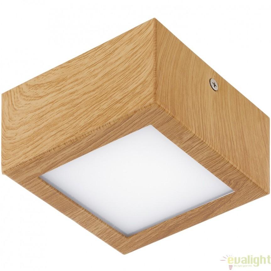 Plafoniera, Spot LED, finsaj natur stejar, 11,5x11,5cm, COLEGIO 95195 EL, Plafoniere LED, Spoturi LED, Corpuri de iluminat, lustre, aplice, veioze, lampadare, plafoniere. Mobilier si decoratiuni, oglinzi, scaune, fotolii. Oferte speciale iluminat interior si exterior. Livram in toata tara.  a