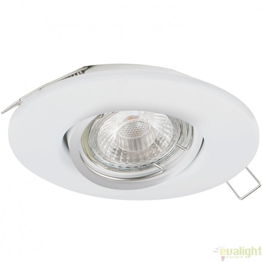Spot incastrabil, directionabil cu iluminat GU10-LED, alb, diametru 8cm, TEDO 1 95354 EL, Spoturi LED incastrate, aplicate, Corpuri de iluminat, lustre, aplice, veioze, lampadare, plafoniere. Mobilier si decoratiuni, oglinzi, scaune, fotolii. Oferte speciale iluminat interior si exterior. Livram in toata tara.  a