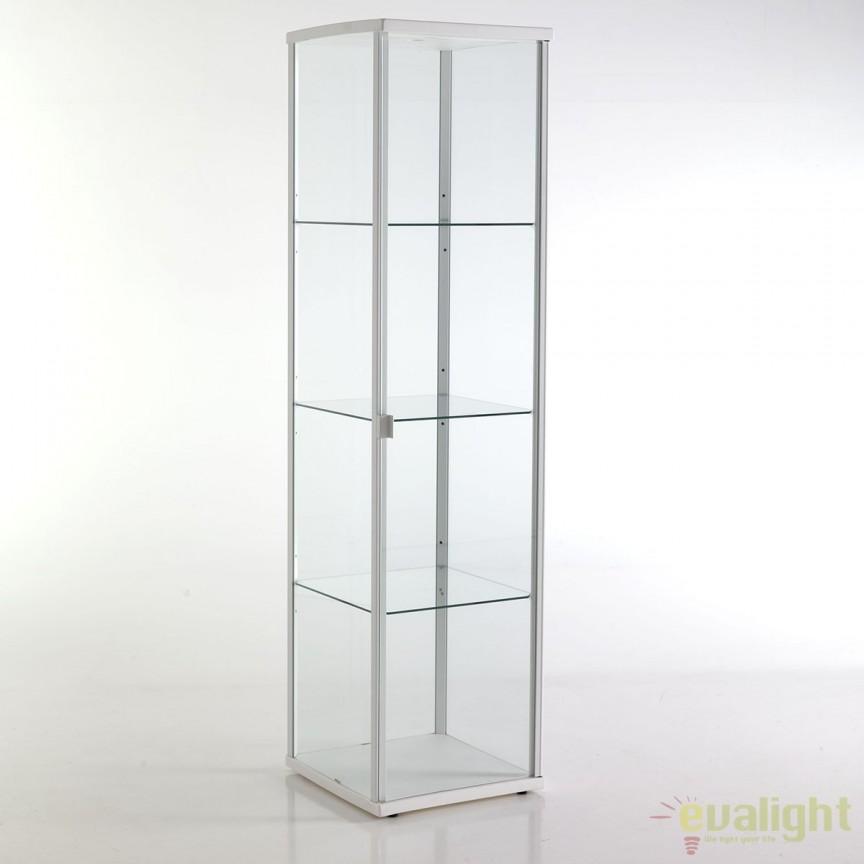 Vitrina cu rafturi din sticla WOW WHITE 2520 FTP, Vitrine - Rafturi, Corpuri de iluminat, lustre, aplice, veioze, lampadare, plafoniere. Mobilier si decoratiuni, oglinzi, scaune, fotolii. Oferte speciale iluminat interior si exterior. Livram in toata tara.  a