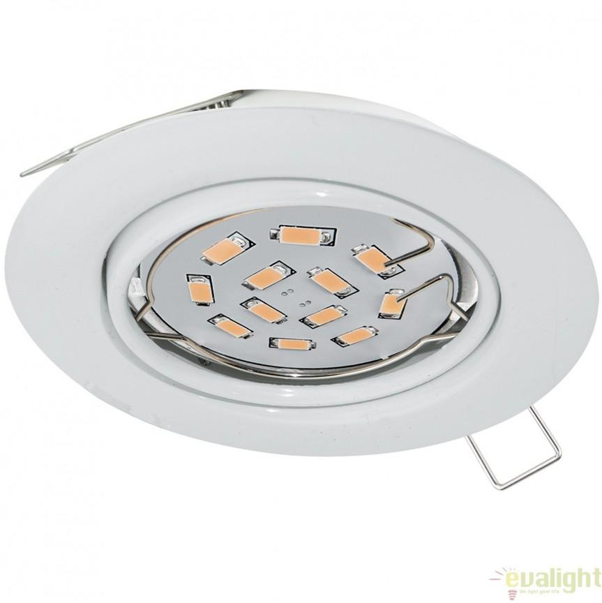 Spot incastrabil cu iluminat GU10-LED, alb, diametru 8,7cm, PENETO 94239 EL, Spoturi LED incastrate, aplicate, Corpuri de iluminat, lustre, aplice, veioze, lampadare, plafoniere. Mobilier si decoratiuni, oglinzi, scaune, fotolii. Oferte speciale iluminat interior si exterior. Livram in toata tara.  a