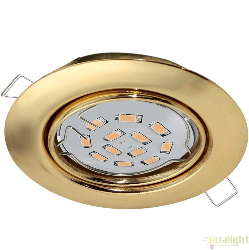 Spot incastrabil cu iluminat GU10-LED, alama, diametru 8,7cm, PENETO 94405 EL, Spoturi incastrate, aplicate - tavan / perete, Corpuri de iluminat, lustre, aplice, veioze, lampadare, plafoniere. Mobilier si decoratiuni, oglinzi, scaune, fotolii. Oferte speciale iluminat interior si exterior. Livram in toata tara.  a