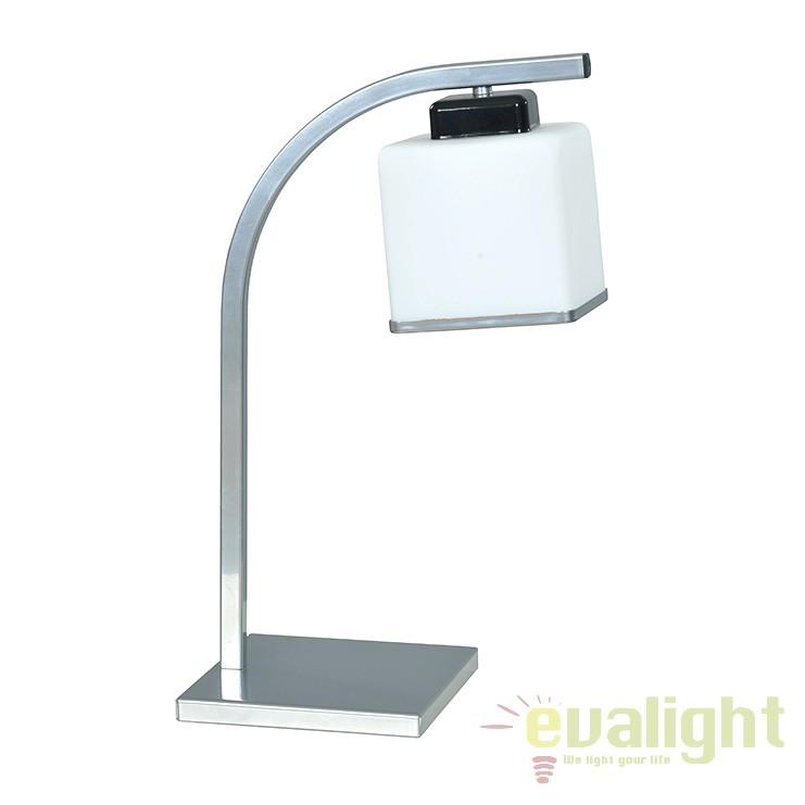 Veioza, lampa de masa ELTROX LN1 SILVER 450/LN1 EMB, Outlet, Corpuri de iluminat, lustre, aplice, veioze, lampadare, plafoniere. Mobilier si decoratiuni, oglinzi, scaune, fotolii. Oferte speciale iluminat interior si exterior. Livram in toata tara.  a