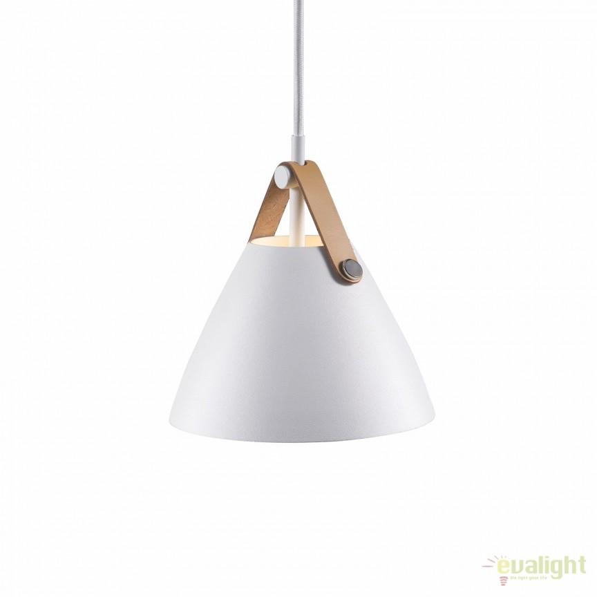 Pendul design nordic STRAP 16 alb 84303001 DFTP, Promotii si Reduceri⭐ Oferte ✅Corpuri de iluminat ✅Lustre ✅Mobila ✅Decoratiuni de interior si exterior.⭕Pret redus online➜Lichidari de stoc❗ Magazin ➽ www.evalight.ro. a