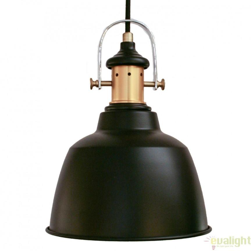 Lustra, Pendul design RETRO, finisaj bronz/negru, diam.18,5cm, GILWELL 49693 EL, NOU ! Lustre VINTAGE, RETRO, INDUSTRIA Style, Corpuri de iluminat, lustre, aplice, veioze, lampadare, plafoniere. Mobilier si decoratiuni, oglinzi, scaune, fotolii. Oferte speciale iluminat interior si exterior. Livram in toata tara.  a
