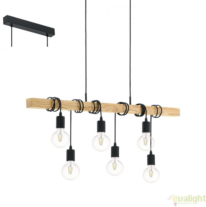 Candelabru din lemn design rustic, TOWNSHEND 95499 EL, NOU ! Lustre VINTAGE, RETRO, INDUSTRIA Style, Corpuri de iluminat, lustre, aplice, veioze, lampadare, plafoniere. Mobilier si decoratiuni, oglinzi, scaune, fotolii. Oferte speciale iluminat interior si exterior. Livram in toata tara.  a