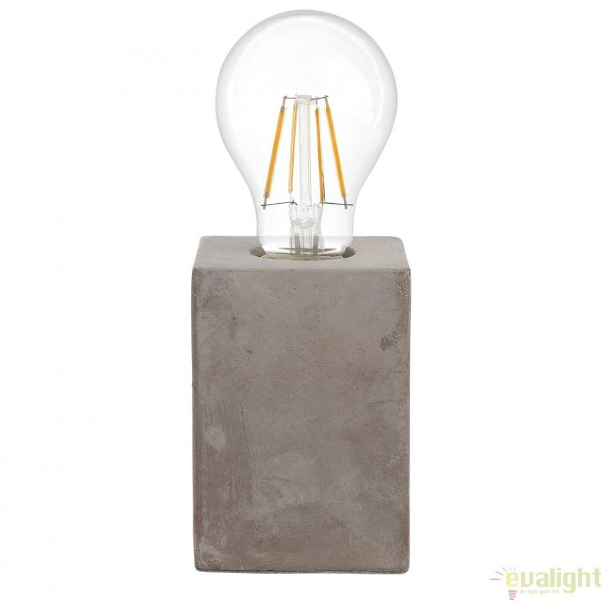 Veioza, Lampa de masa din ciment, design Industrial Style, PRESTWICK 49812 EL, Veioze, Lampi de masa, Corpuri de iluminat, lustre, aplice, veioze, lampadare, plafoniere. Mobilier si decoratiuni, oglinzi, scaune, fotolii. Oferte speciale iluminat interior si exterior. Livram in toata tara.  a