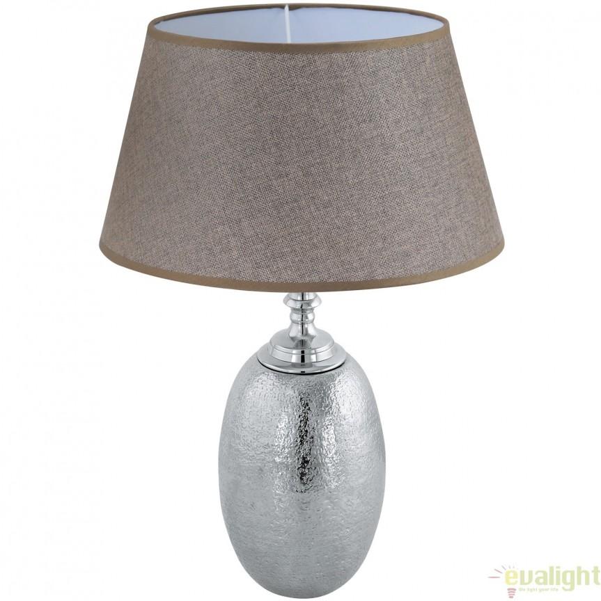 Veioza, Lampa de masa din aluminiu, design Vintage, SAWTRY 49664 EL, Veioze, Lampi de masa, Corpuri de iluminat, lustre, aplice, veioze, lampadare, plafoniere. Mobilier si decoratiuni, oglinzi, scaune, fotolii. Oferte speciale iluminat interior si exterior. Livram in toata tara.  a