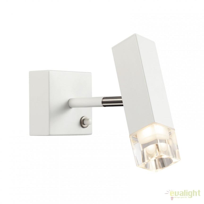 Aplica de perete LED dimabila CADDO alba 84511001 DFTP, Aplice de perete LED, Corpuri de iluminat, lustre, aplice, veioze, lampadare, plafoniere. Mobilier si decoratiuni, oglinzi, scaune, fotolii. Oferte speciale iluminat interior si exterior. Livram in toata tara.  a