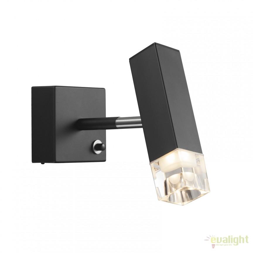 Aplica de perete LED dimabila CADDO neagra 84511003 DFTP, ILUMINAT INTERIOR LED , Corpuri de iluminat, lustre, aplice, veioze, lampadare, plafoniere. Mobilier si decoratiuni, oglinzi, scaune, fotolii. Oferte speciale iluminat interior si exterior. Livram in toata tara.  a