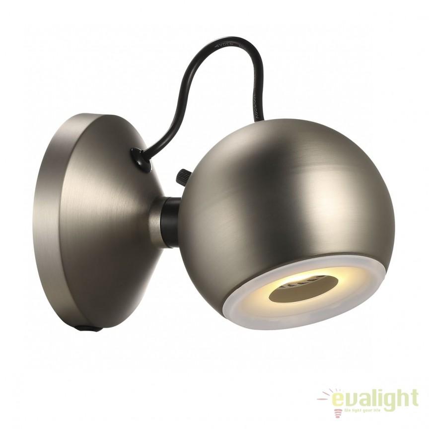 Aplica de perete LED design modern GLOBE otel 83133032 DFTP, Aplice de perete LED, Corpuri de iluminat, lustre, aplice, veioze, lampadare, plafoniere. Mobilier si decoratiuni, oglinzi, scaune, fotolii. Oferte speciale iluminat interior si exterior. Livram in toata tara.  a
