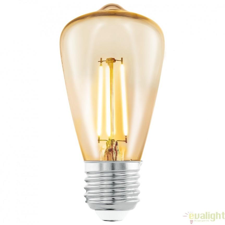 Bec E27-LED-ST48 3,5W 2200k 11553 EL, BECURI ILUMINAT, Corpuri de iluminat, lustre, aplice, veioze, lampadare, plafoniere. Mobilier si decoratiuni, oglinzi, scaune, fotolii. Oferte speciale iluminat interior si exterior. Livram in toata tara.  a
