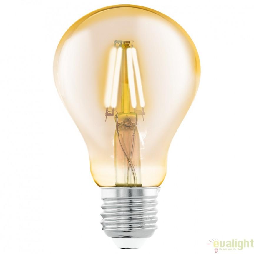 Bec E27-LED-A75 4W 320lm 2200k 11555 EL, BECURI ILUMINAT, Corpuri de iluminat, lustre, aplice, veioze, lampadare, plafoniere. Mobilier si decoratiuni, oglinzi, scaune, fotolii. Oferte speciale iluminat interior si exterior. Livram in toata tara.  a